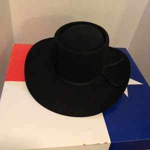 "Vintage Accessories - ""The Gambler"" Vintage Black Felt Cowboy Hat"